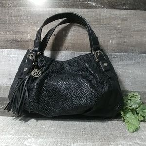 Relic by Fossil black textured hobo bag